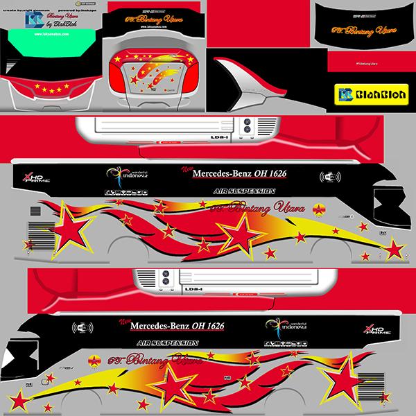 Livery BUSSID Bus Arjuna XHD - Bintang Utara - Livery-BUSSID.com