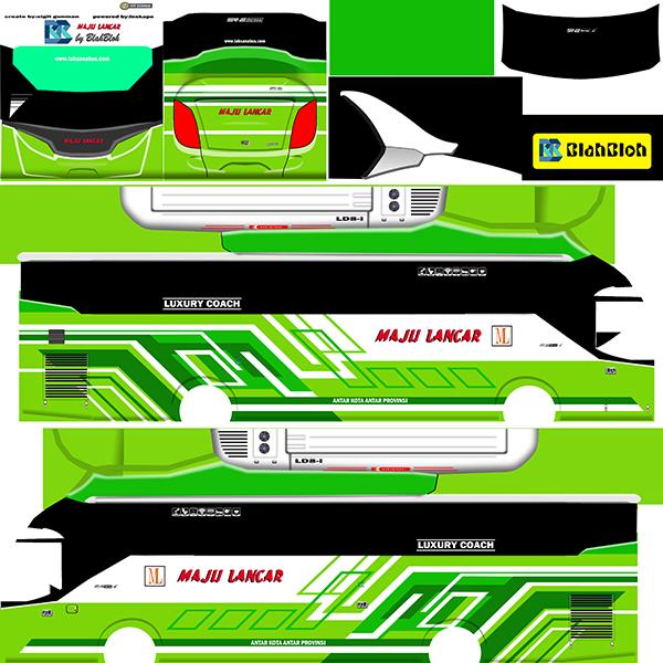 Livery BUSSID Bus Arjuna XHD - Maju Lancar - Livery-BUSSID.com
