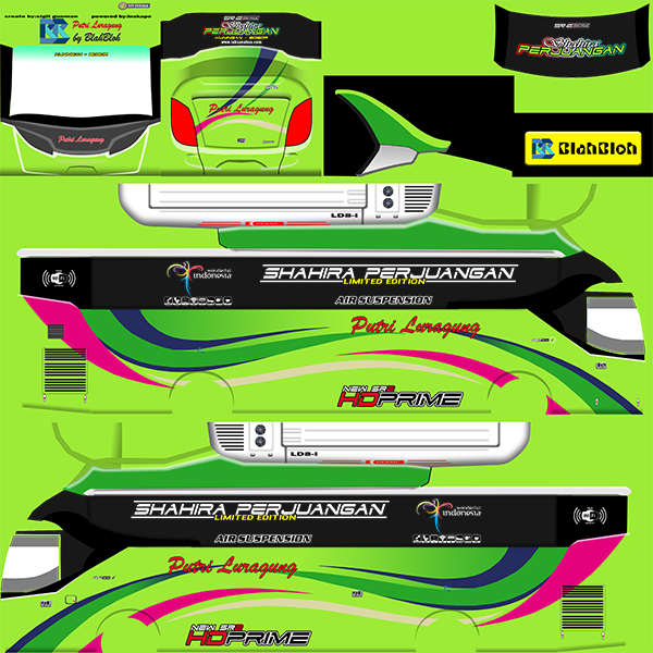Livery BUSSID Bus Arjuna XHD - Putri Luragung - Livery-BUSSID.com