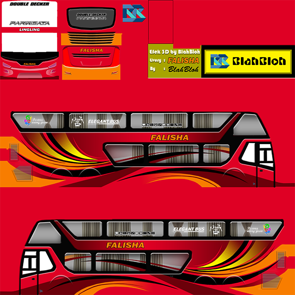 Livery BUSSID Bus Bimasena SDD - Falisha - Livery-BUSSID.com