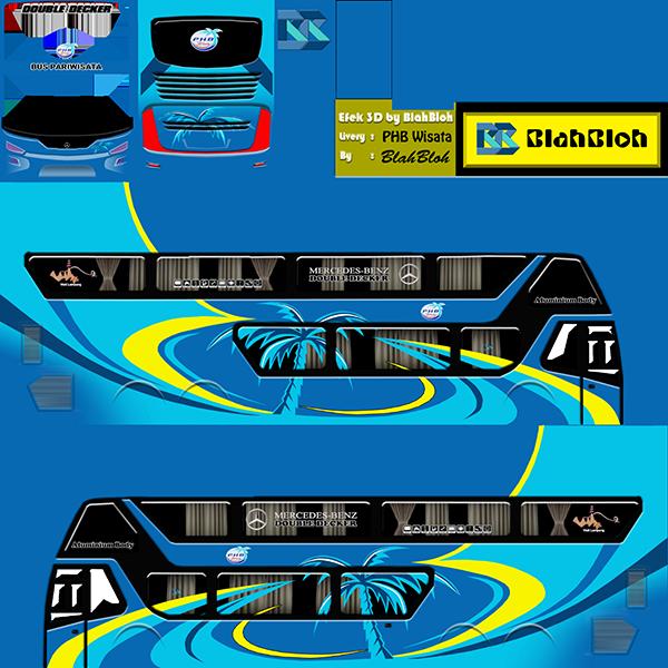 Livery BUSSID Bus Bimasena SDD - PHB Wisata - Livery-BUSSID.com