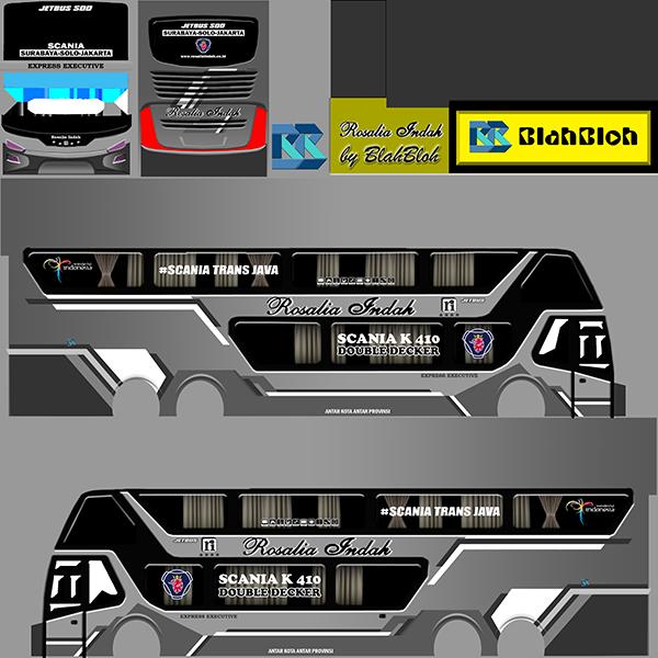 Livery BUSSID Bus Bimasena SDD - Rosalia Indah - Livery-BUSSID.com