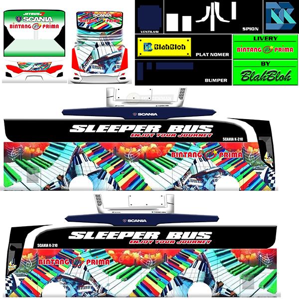 Livery BUSSID Bus HD Ori - Bintang Prima Piano - Livery-BUSSID.com