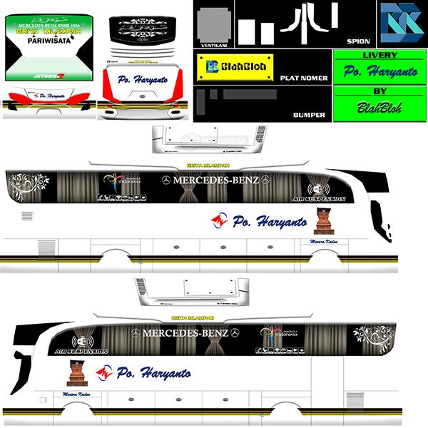 Livery BUSSID Bus HD Ori - Hr Griya Mlampah - Livery-BUSSID.com
