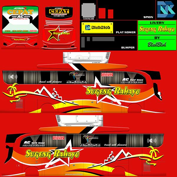 Livery BUSSID Bus HD Ori - Sugeng Rahayu - Livery-BUSSID.com