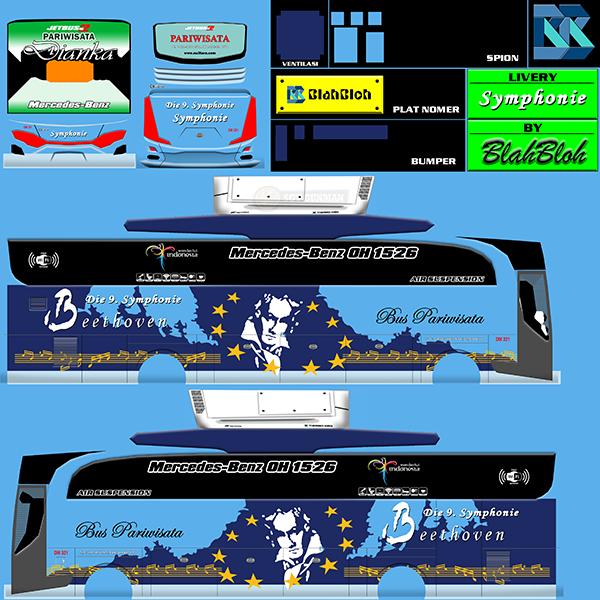 Livery BUSSID Bus HD Ori - Symphonie - Livery-BUSSID.com