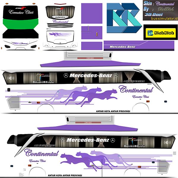 Livery BUSSID Bus Jetbus 2 SHD - Continental - Livery-BUSSID.com