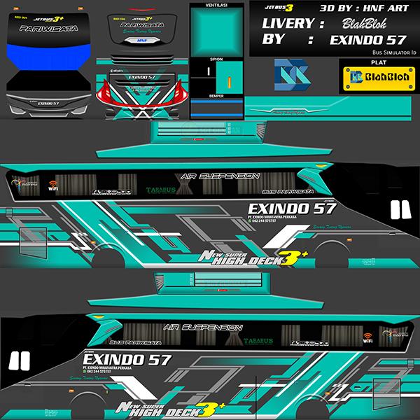 Livery BUSSID Bus Jetbus 2 SHD - Exindo 57 - Livery-BUSSID.com