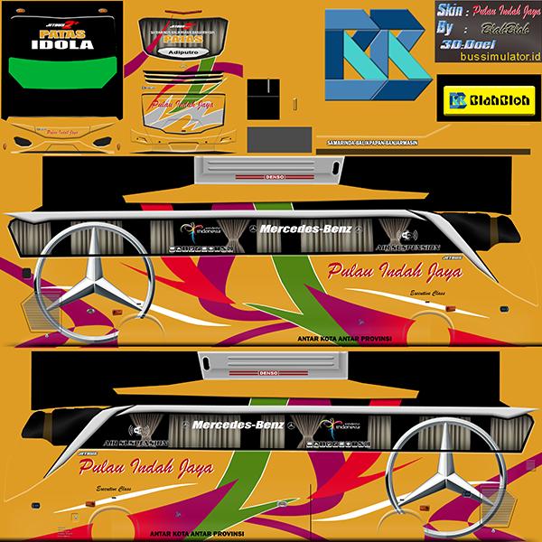 Livery BUSSID Bus Jetbus 2 SHD - Pulau Indah Jaya - Livery-BUSSID.com