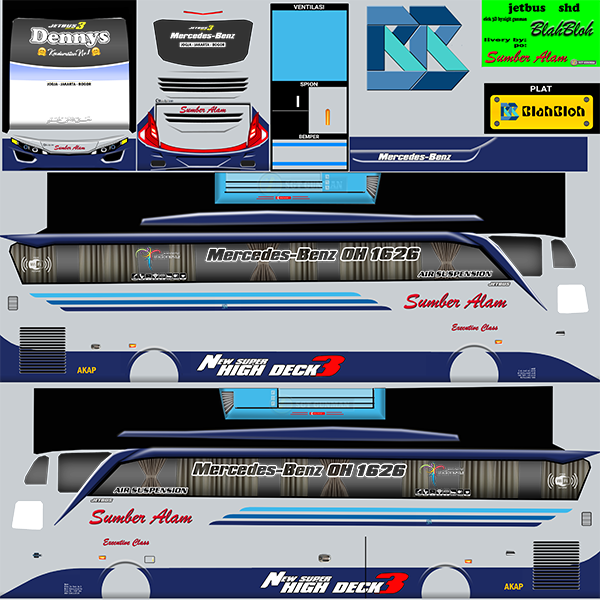 Livery BUSSID Bus Jetbus 2 SHD - Sumber Alam - Livery-BUSSID.com