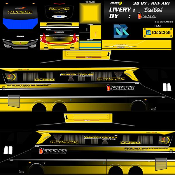 Livery BUSSID Bus Jetbus 2 Tronton SHD - B Coach - Livery-BUSSID.com