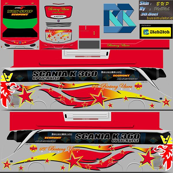 Livery BUSSID Bus Jetbus 2 Tronton SHD - Bintang Utara - Livery-BUSSID.com