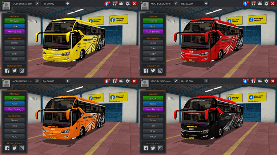 Livery BUSSID SR2 Facelift HD Prime by MD Creation