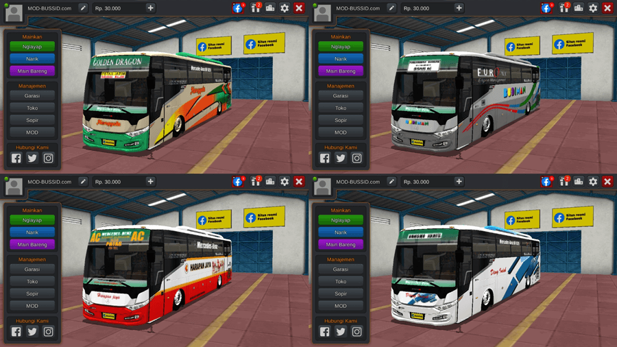 Livery BUSSID Scorpion X by BSW Edit WSP