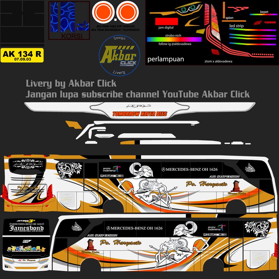 Livery BUSSID JB3+ HDD – PO. HARYANTO BY ZTOM EDIT ALDOVADEWA Haryanto 037