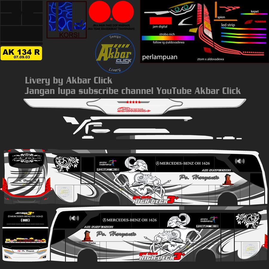 Livery BUSSID JB3+ HDD – PO. HARYANTO BY ZTOM EDIT ALDOVADEWA Haryanto 065