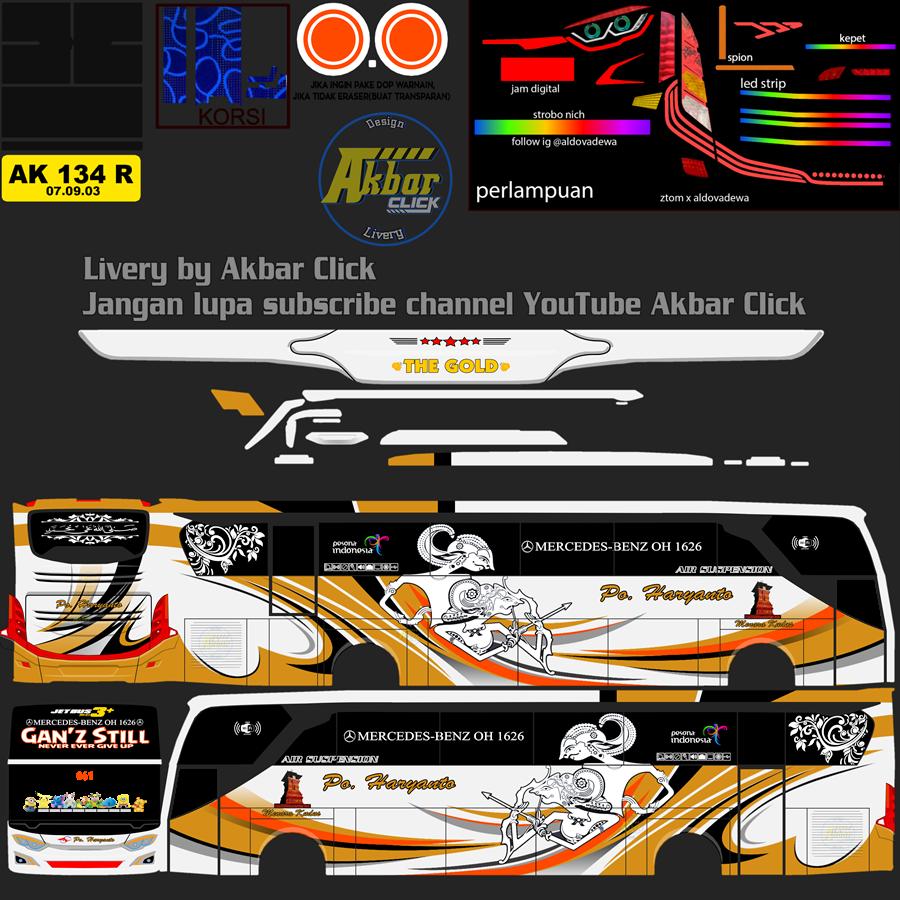 Livery BUSSID JB3+ HDD – PO. HARYANTO BY ZTOM EDIT ALDOVADEWA Haryanto Ganz Still