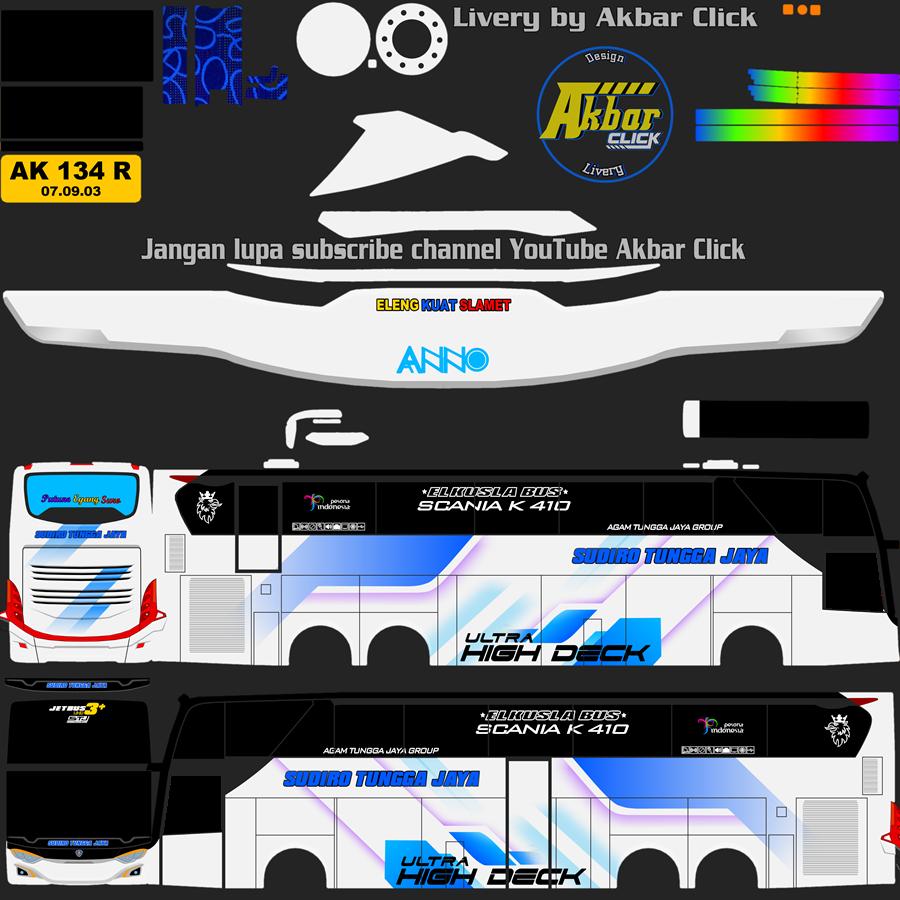 Livery BUSSID JB3+ UHD VOLVO B11R BY MD CREATION Sudiro Tungga Jaya