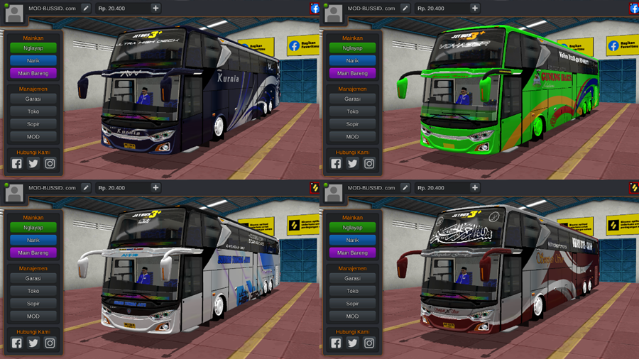 Livery BUSSID JB3+ UHD Volvo B11R by MD Creation