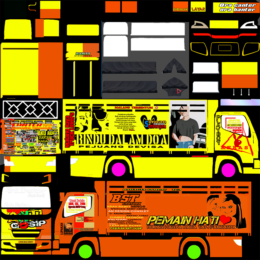 Livery BUSSID Truck Canter V2 Varian A New Anti Gosip