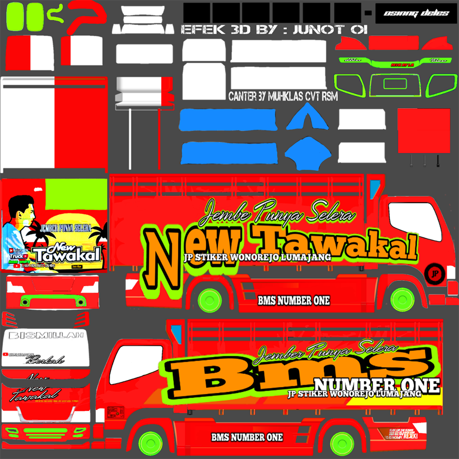 Livery BUSSID Truck Canter V2 Varian A New Tawakal