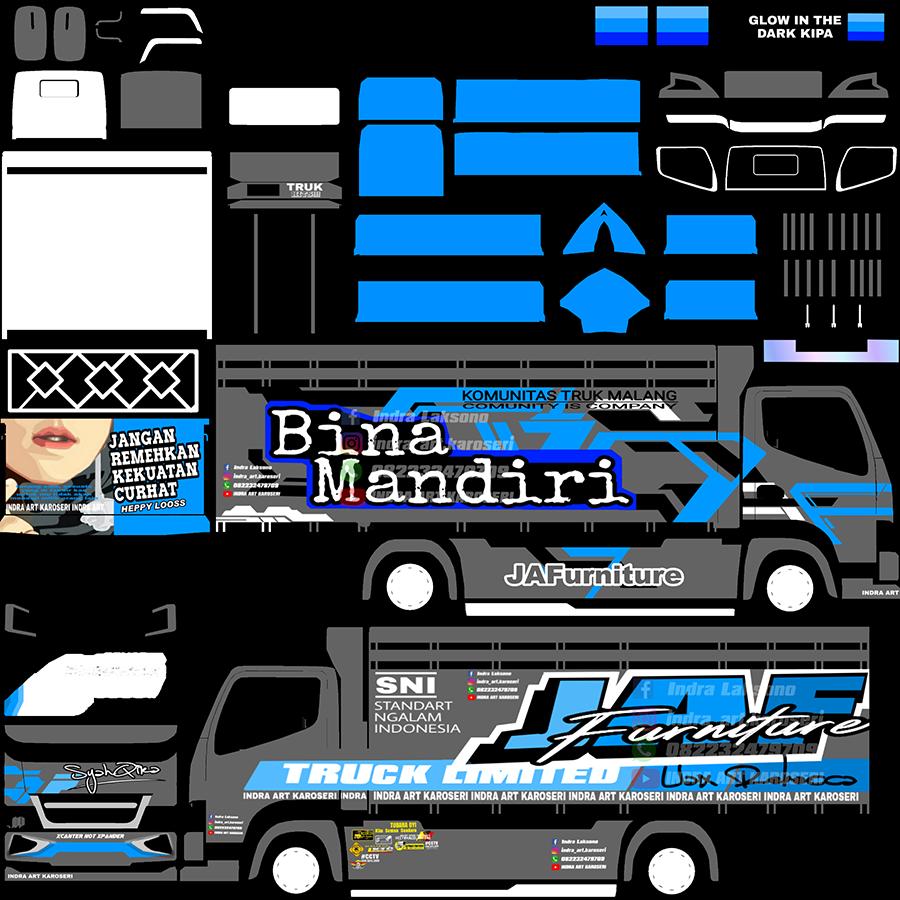 Livery BUSSID Truck Canter V2 Varian A Rebecca Syahqira
