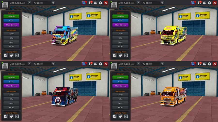 Livery BUSSID Truck Mitsubishi Fuso Canter by BMI